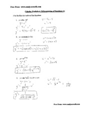 Worksheets Product Rule Worksheet calculus st brendan catholic high school course hero 4 pages chain rule with power solutions