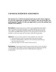 CAP MOCK INTERVIEW ASSIGNMENt-2016.doc