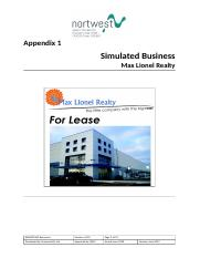 BSBMGT605 Resources - Appendix 1_Max Lionel Realty.docx