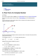 Polar form Complex Number