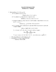 Econ 281 Fall 2010 Problem Set 2 - Solutions