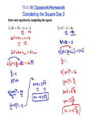 11-1-16 Classwork_Homework Completing the Square Day 2 KEY.pdf