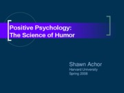 Shawn Humor Lecture