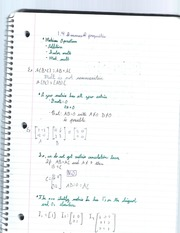 Matrices and their properties