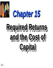Chapter-15-Required-Returns-and-the-Cost-of-Capital.ppt