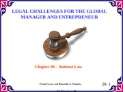 Chapter20 Legal Challenges