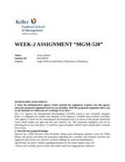 Week 2 homework help - gm520