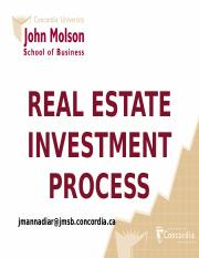 03 PPT REAL ESTATE INVESTMENT PROCESS