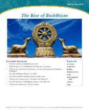 The Rise of Buddhism Unit 2 Lesson 2
