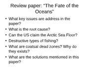 Fate of the oceans