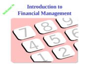 FINA-6209 The Basics of Finance and Financial Management