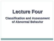 Classification and Assessment Lecture Slides