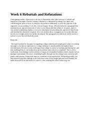 Week 6 Rebuttals and Refutations 2.9.docx