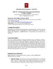 USC FBE 437 F13 New Syllabus v1(2)