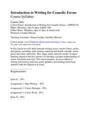 CRWR230SYLLABUSFALL2015
