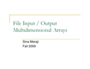Output & Multidimensional Arrays (Sina)
