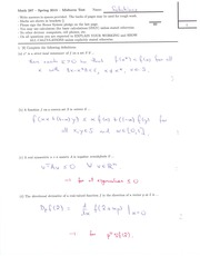 MATH 287 Spring 2015 Midterm 1 Solutions