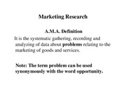 Lecture B and B Marketing Research for Strategic Marketing Planning
