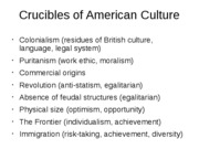 American Values and Culture53