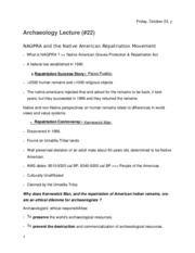 Archaeology Lecture 22.docx