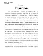 A Film Review on Burgos