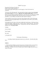 typed hamlet essay hamlet essay write a response to the essay  2 pages essay topics 2012
