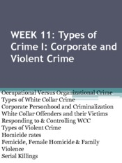 Week 11_Types of Crime I- Corporate and Violent Crime