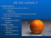 AS101 Lecture 2