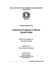 INDUCTION MARUTI SUZUKI