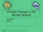 Climate Change in the Roman Empire