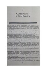 Guidelines for Critical Reading