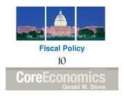 Macroeconomic Principals Chapter 10 Fiscal Policy