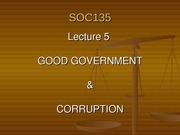 SOC135 - 5 - Good Government and Corruption