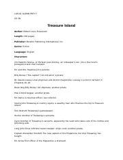 treasure island daniel hatfield frank english honors period  3 pages treasure island