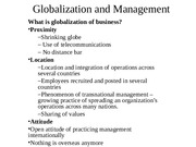 Ch 5 - Globalization and  Management