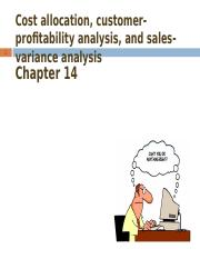 Chp 14 - Cost Allocation, Customer-Profitability Analysis, and Sales-Variance Analysis  (complete)(2