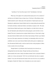 The Dead Essay