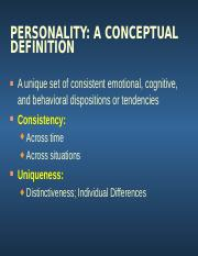 Personality Theories & Perspectives