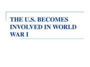 The U.S. and World War I