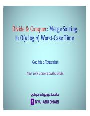 Divide-and-Conquer-Merge-Sorting