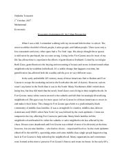 Economics Assignment 2 - An Urban Perspective.docx