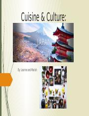 Cuisine & Culture Japan Leanne and Meriah.pptx