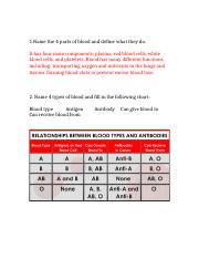 Forensics blood test review answers .docx