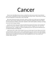 Cancer Essay
