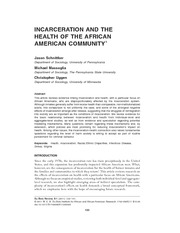 Schnittker Incarceration and the Health of the African American Community