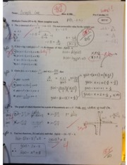 Pre-Calculus 12 Optimization Unit Test