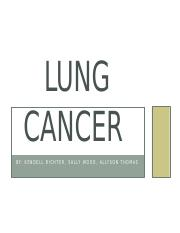 Test 1- Lung Cancer