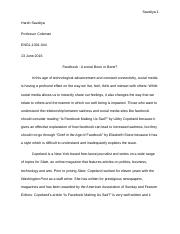 Harsh Essay 6