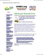 facts about dihydrogen monoxide facts about dihydrogen monoxide 1