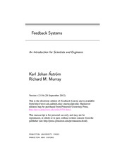 (With Hyperlinks) Feedback Systems An Introduction for Scientists and Engineers - Karl Johan Astrom